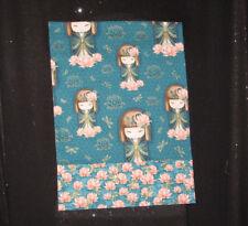 Handmade Cotton Pillowcase - Travel/Toddler Size - Asian Kimmie Dolls