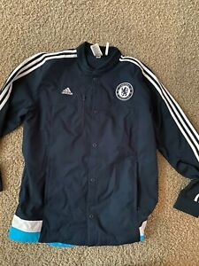 Adidas Chelsea FC Button-Up Track Jacket - Navy - USED - Size L