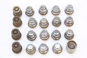 Black Wheel Nuts /& Locks Mk3 12x1.5 Bolts for Lexus GS 300 16+4 05-11