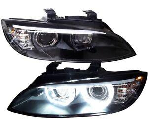 SATZ XENON SCHEINWERFER BMW E92 E93 05-02/10 SCHWARZ D1S HID TAGFAHRLICHT LED