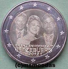 Luxemburg 2 Euro Gedenkmünze 2012 Hochzeit Guillaume commemorative coin