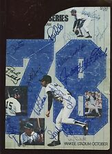1978 New York Yankees Yearbook Front Page Autographed 19 Signatures Hologram