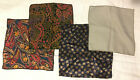 Lot Of 4 Handkerchiefs 3 Printed 1 Without Print