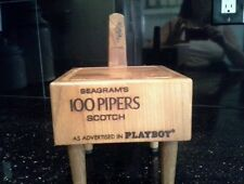 Seagram's 100 Pipers Scotch Chopping Block - PLAYBOY logo