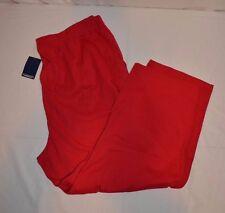 "Lands End Womens Sport Knit Pants 2 Pockets Crop Sz 1X 16W-18W Pink New 24""insm"