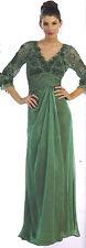 SAGE GREEN FORMAL MODEST MOTHER OF THE BRIDE GROOM DRESS EVINING Size Large /10