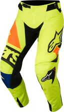 Crosshose ALPINESTARS RACER Techstar Factory PANTS 2018 YELLOW FLUO/Blue tg. 30