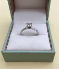 Certified Princess Cut Diamond Solitaire Platinum Engagement Ring GVS2 Size L1/2