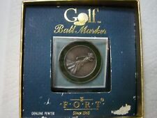 Victorian Lady Golfer Pewter Golf Ball Marker by Fort