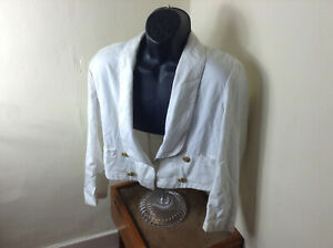 British Royal Navy Officers White Tropical Mess Dress Jacket Tunic QC Buttons#26