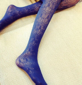 New Women's Vintage Hollow Lace Tights Spandex Pantyhose Long Stockings 5 Colors