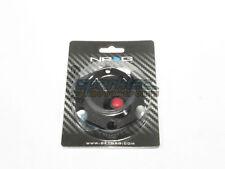 NRG Aluminum Steering Wheel Hexagonal Horn Button Cover Plate Black w/Red Button