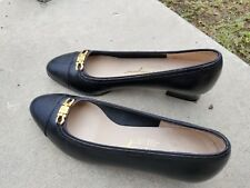 Salvatore Ferragamo Black Leather Low Heels Womens Shoes Size 6 B Italy