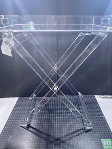 Design Styles Acrylic Folding Tray Table