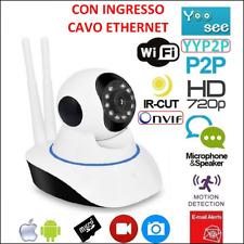 Ip Camera Wi-Fi HD 720p Motorizzata Ir Lan Infrarossi Con App Yoosee