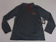 Champion Men Youth Large Louisville Cardinals 1/4 Zip Gray Pullover New w Tags
