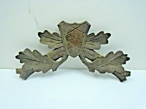 """Antique Dark Brown Hunters Crown For Cuckoo Clock  9 1/4"""" Wide 5"""" tall"""