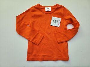 Hanna Andersson NWT 100 Play it Again Pima Tee Top T-shirt Orange RM1-802