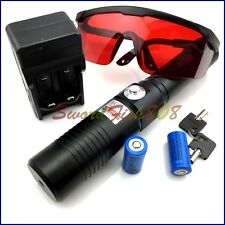 1.6WX1-B 450nm Adjustable Focus Blue Laser Pointer burn matches light cigarettes