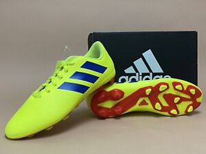 Adidas Junior Nemeziz 18.4 FxG Soccer Cleats Yellow/Blue/Red Sz 6 / 7.5W CM8509