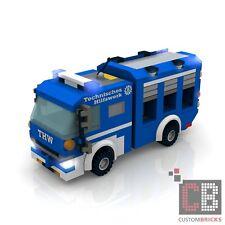 BAUANLEITUNG Eigenbau Custom THW Gerätekraftwagen 1 MOC für  LEGO® Steine