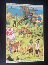 Planche de 4 autocollants Tintin 48 81 00 Hergé ETAT NEUF