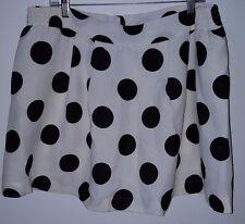Fashion To Figure NWT Womens Plus Ivory/Black Polka Dot Skorts Skirt Size 2X