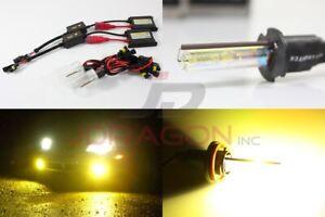 H3 3000K Jdm Yellow 35W Slim DC Ballast HID Conversion Kit Xenon Bulb