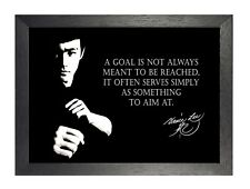 Bruce Lee Goal Hong Kong American Actor Film Martial Arts Quote Poster Photo