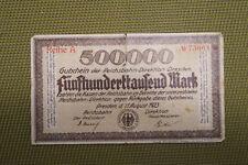 Geldschein, Notgeld, Reichsbahn, Dresden, Sachsen, 500 000 Mark, 1923