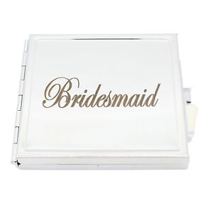 Personalisiert Faltbar Spiegel Quadratisch Kompakte Taschen Kosmetik Hochzeit