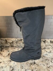 TOTES Women's Cynthia Black Faux Lined Insulated Waterproof Winter Boots Size 6