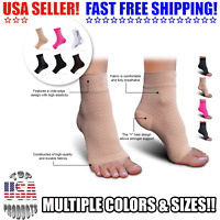 Copper Compression Support Ankle Sleeve Socks PLANTAR FASCIITIS Heel Valgus