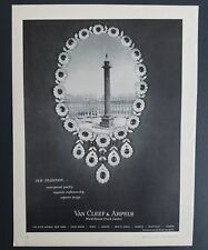 1961 Van Cleef & Arpels diamond necklace jewelry world famous Jewelers ad