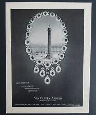 1961 Van Cleef & Arpels diamond necklace jewelry world famous Jewelers ad