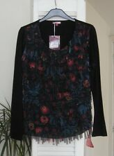 LOVELY NEW JOE BROWNS MULTICOLOURED EXTREME SHIMMY LADIES TOP SIZE 14