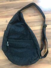 AmeriBag Nylon Healthy Bag Sling Bag Travel Bag Shoulder Bag Black