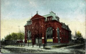 Postcard Arbeiter Hall in Saginaw, Michigan~138803