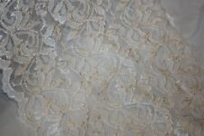 """1 yard cream off white lingerie craft sewing galloon STRETCH LACE 9"""" extra Wide"""