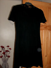 v by very ladies black choker neck dress uk sz 8 nwot