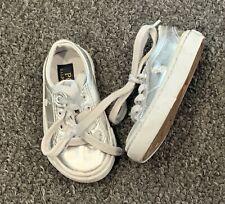Ralph Lauren Boys Girls Shoes Size 4 Baby Infant Silver