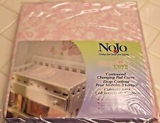 New NoJo Pink BUTTERFLY LOVE Contoured CHANGING TABLE PAD COVER Floral