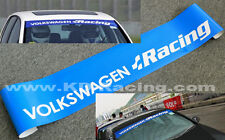 VW Racing Windscreen Sticker Polo Golf Scirocco GTi R Decals Free Shipping x 1