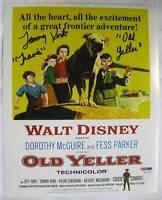Photographs Alert Tommy Kirk Signed Photo Coa Disney Old Yeller