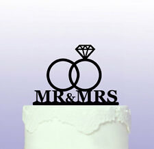 Wedding Rings Cake Topper