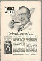1919 PRINCE ALBERT TOBACCO advertisement, post WWI slang