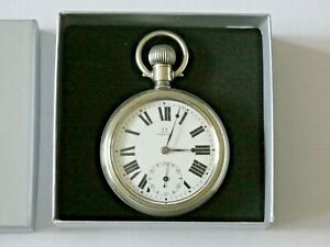 Beautiful Antique Nickel Silver Omega Pocket Watch Dated 1920.