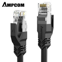 AMPCOM CAT6 Ethernet Cable Lan Network CAT6 Internet Modem RJ45 Patch Cord