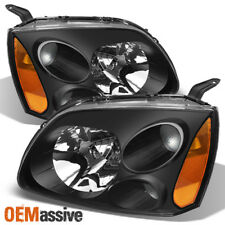Fit 2004-2012 Mitsubishi Galant Halogen Headlights Black Lamps Replacment Pair