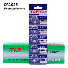 5pcs CR1025 Button Cell 3V Single Use Coin Cell Car Key Li-on Butteries